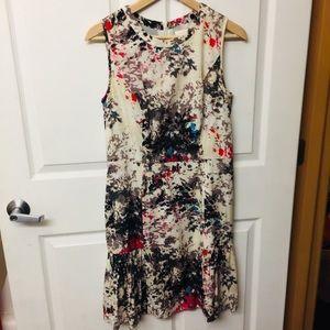 Shoshanna Silk Shift dress floral geo Print 8